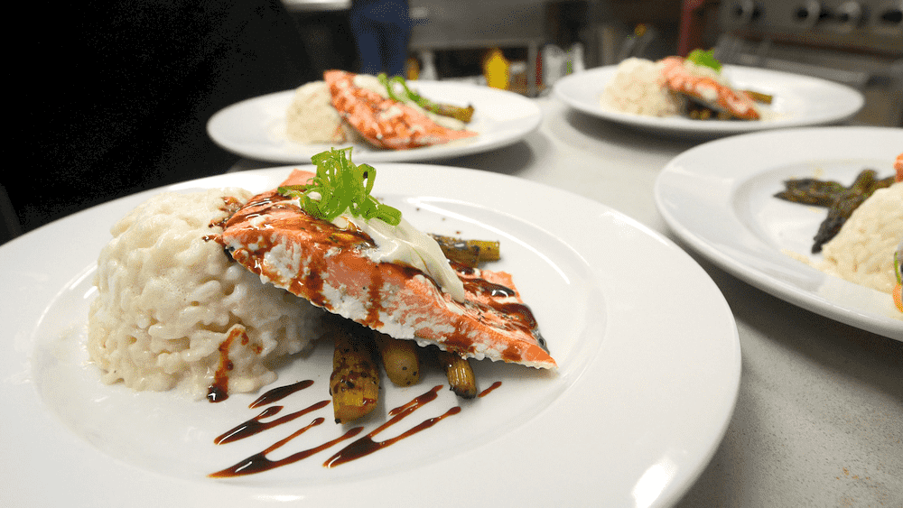 plates of fish served at QC Safaris Lodge