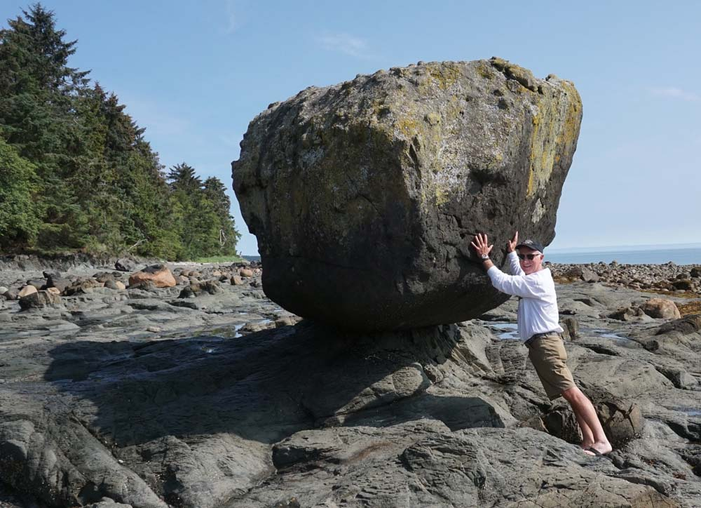 boulders on beach in BC