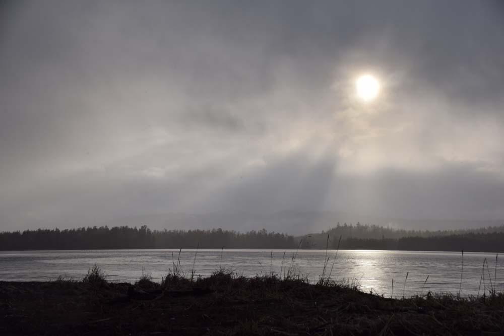 beautiful sunset in British Columbia