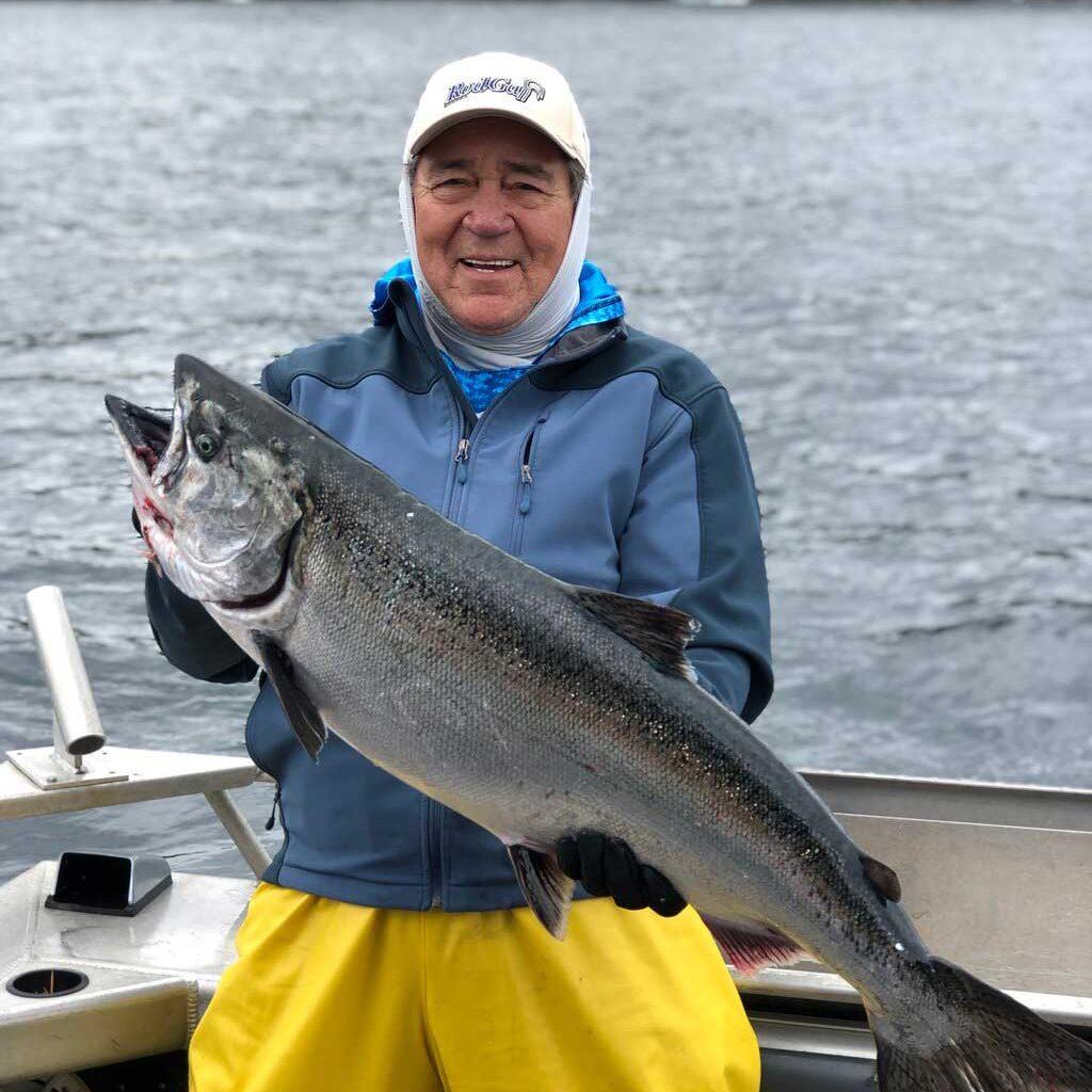 John, testimonial, with salmon fishing